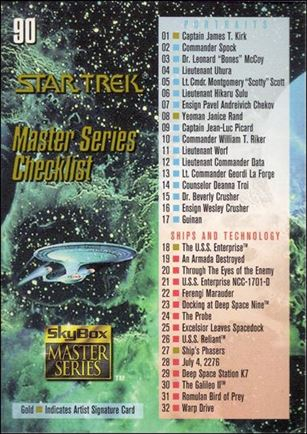 Star Trek Master Series: Series 1 (Base Set) 90-A