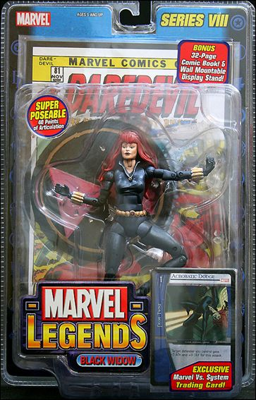 Marvel Legends (Series 8) Black Widow (Natasha Romanoff - Red Hair) by Toy Biz