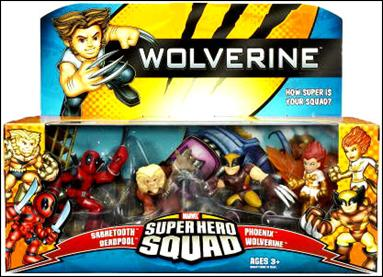 Wolverine - Marvel Super Hero Squad (Box Sets) The Uncanny X-Men 4-Pack by Hasbro