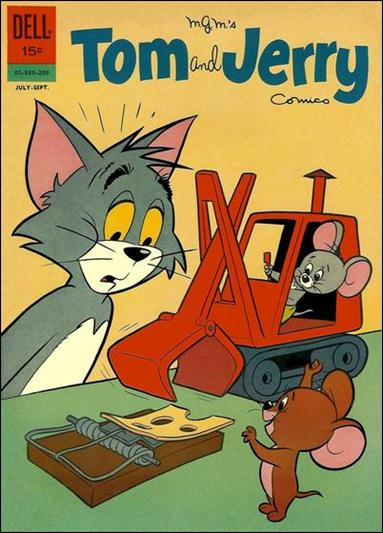 Tom & Jerry Comics 212-A by Dell