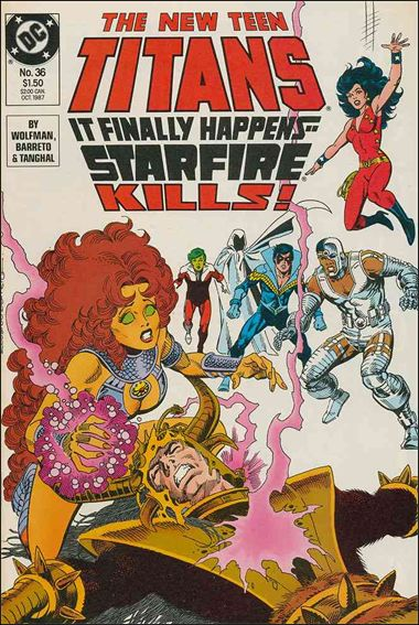 New Teen Titans (1984) 36-A by DC