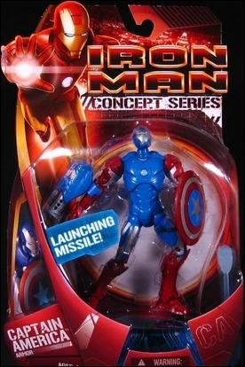 Iron Man (Movie) Captain America (Armor) by Hasbro