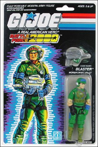 G.I. Joe: A Real American Hero (Battle Force 2000)  Blaster (Vindicator Hovercraft Pilot) by Hasbro