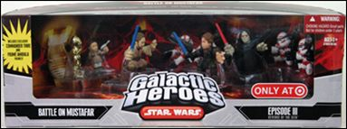 Star Wars: Galactic Heroes Cinema Scenes Battle of Mustafar (Target Exclusive) by Hasbro