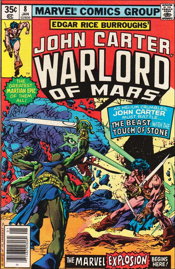 John Carter, Warlord of Mars (1977) 8-A by Marvel