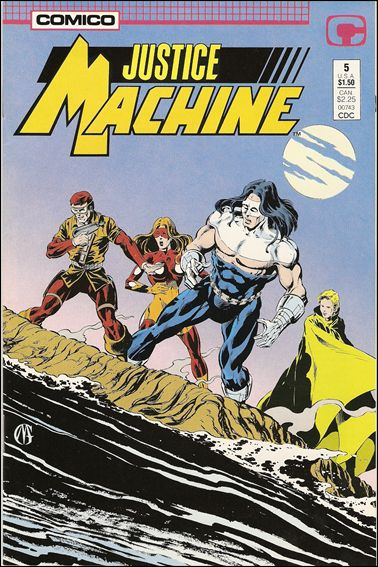 Justice Machine (1987) 5-A by Comico