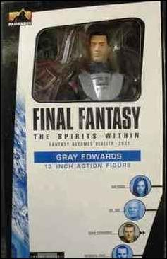 "Final Fantasy: The Spirits Within (12"" Figures) Gray Edwards by Palisades Toys"