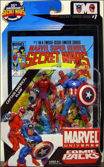 Marvel Universe: Secret Wars (Comic-Packs) Captain America and Klaw by Hasbro