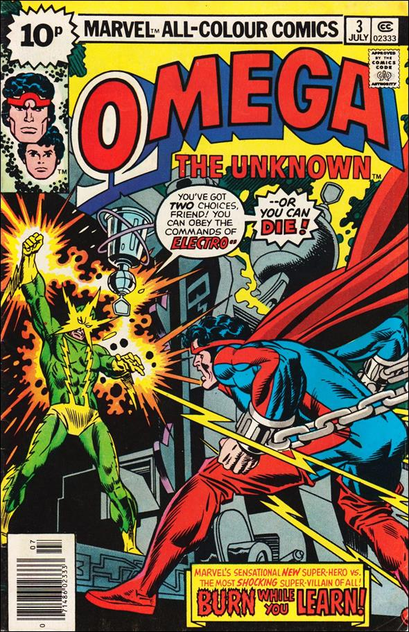 Omega: The Unknown (1976) 3-C by Marvel