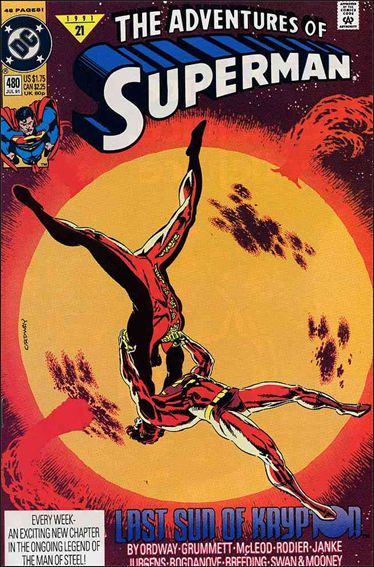 Adventures of Superman (1987) 480-A by DC