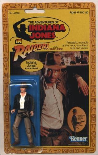 Adventures of Indiana Jones Indiana Jones (9-back/No Belloq offer) by Kenner