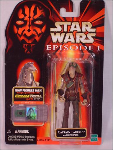 "Star Wars: Episode I 3 3/4"" Basic Action Figures Captain Tarpals (Warning Printed) by Hasbro"