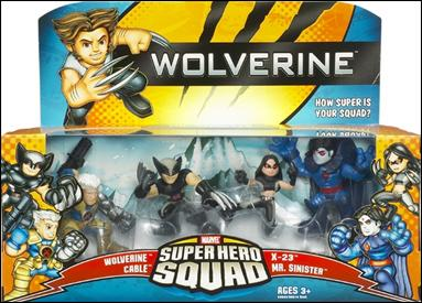 Wolverine - Marvel Super Hero Squad (Box Sets) The Hunt for Mr. Sinister 4-Pack by Hasbro