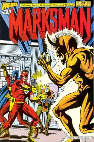 Marksman (1988) 3-A by Hero Comics