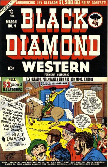 Black Diamond Western 9-A by Lev Gleason Productions