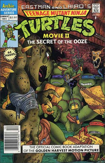 Teenage Mutant Ninja Turtles II: The Secret of the Ooze Official Movie Adaptation 1-A by Archie