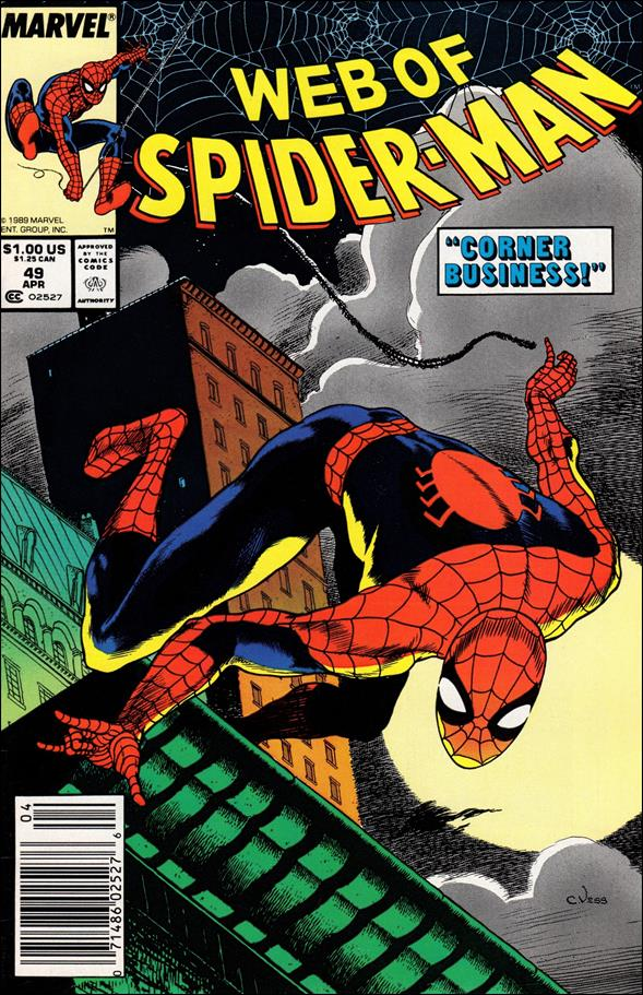 Web of Spider-Man (1985) 49-A by Marvel
