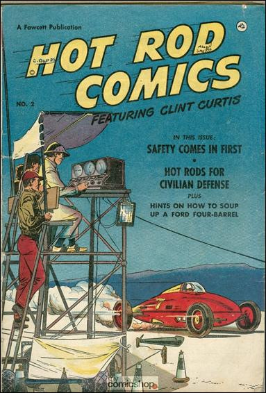 Hot Rod Comics Featuring Clint Curtis (UK) 2-A by Fawcett
