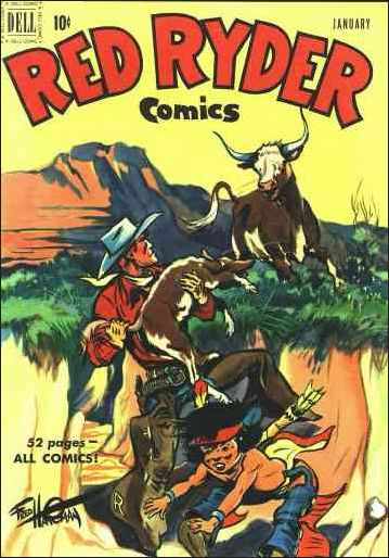 Red Ryder Comics 90-A by Dell
