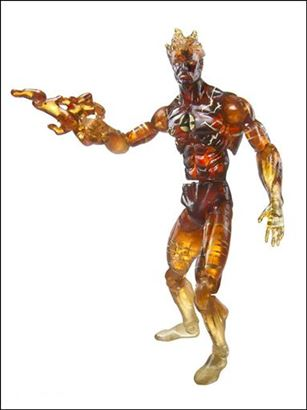 Marvel Universe (Series 1) Human Torch (Flames) - Loose