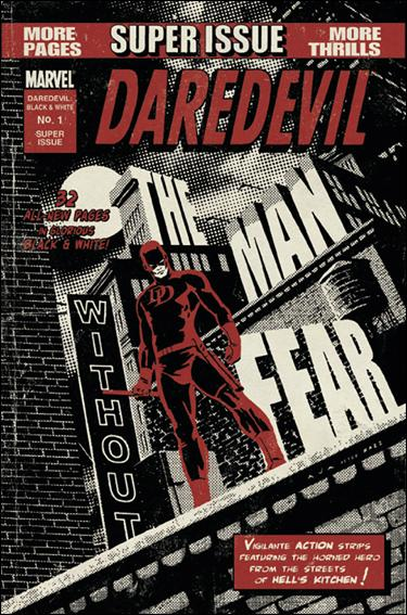 Daredevil Black & White 1-A by Marvel