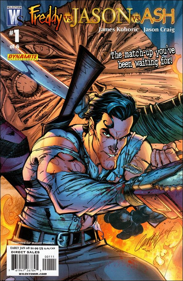 Freddy vs Jason vs Ash (of Army of Darkness) 1-B by WildStorm