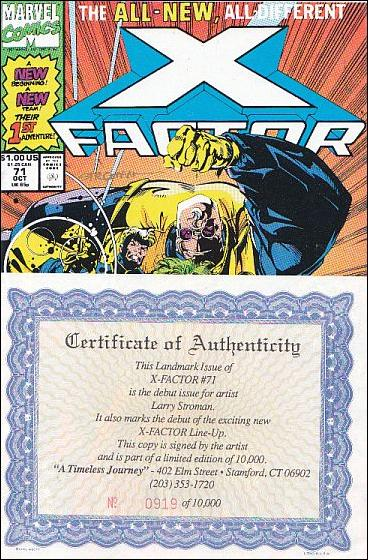 X-Factor (1986) 71-C by Marvel