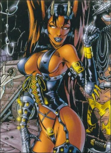 Lady Death and the Women of Chaos!: Love Bites (Base Set) 23-A by Comic Images