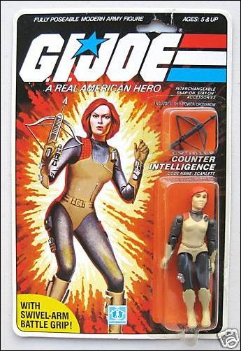 "G.I. Joe: A Real American Hero 3 3/4"" Basic Action Figures Scarlett (Counter Intelligence) Swivel Arm by Hasbro"