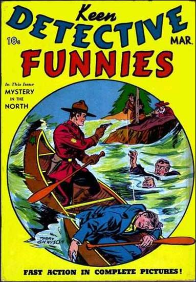 Keen Detective Funnies (1939) 3-A by Centaur Publications Inc.