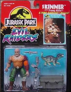 jurassic park action figures skinner evil raiders jan