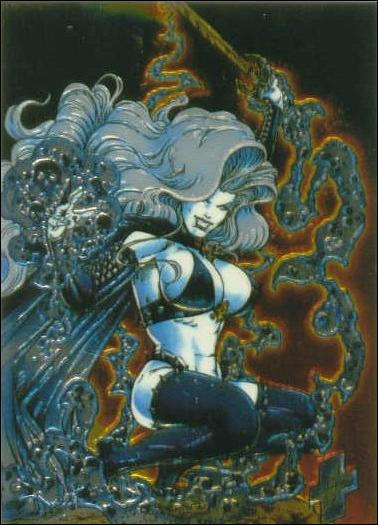 Lady Death All Chromium (Base Set) 1-A by Krome Productions