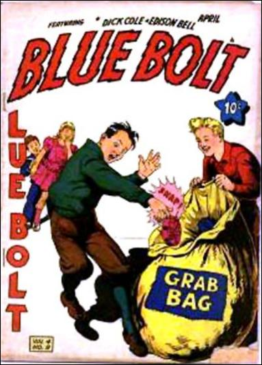 Blue Bolt (1943) 9-A by Novelty Press