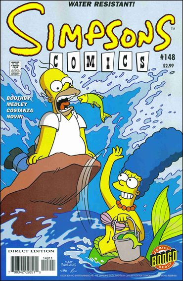 Simpsons Comics 148-A by Bongo