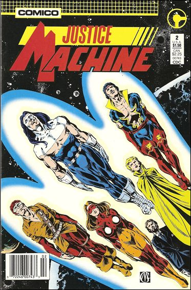 Justice Machine (1987) 2-A by Comico