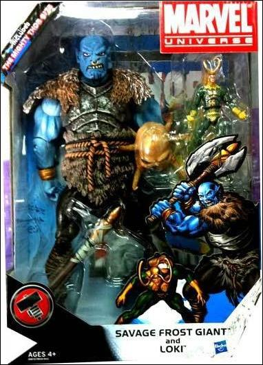 Marvel Universe: Gigantic Battles (2-Packs) Savage Frost Giant and Loki by Hasbro