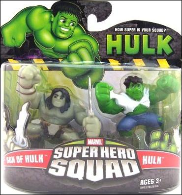 Hulk - Marvel Super Hero Squad  Son of Hulk and Hulk by Hasbro