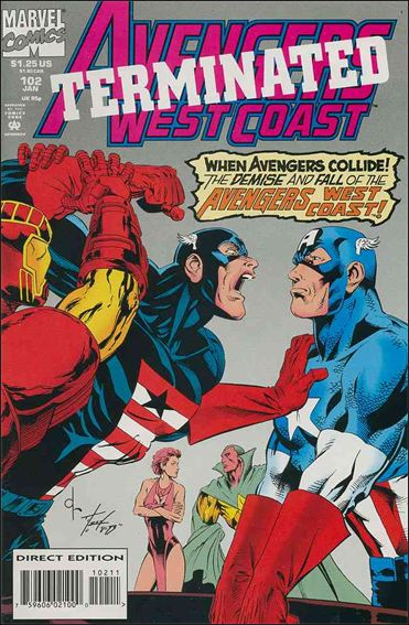 Avengers West Coast 102-A by Marvel