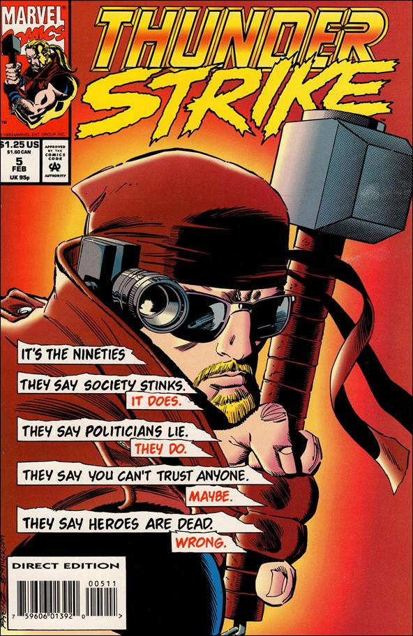 Thunderstrike (1993) 5-A by Marvel