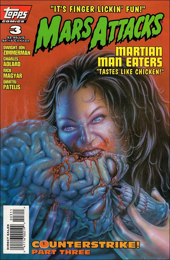 Mars Attacks (1995) 3-A by Topps