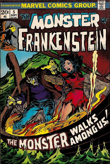 Frankenstein (1973) 5-A by Marvel