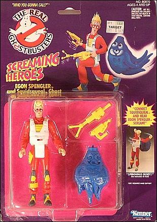 Real Ghostbusters: Screaming Heroes Egon Spengler and Squidsqueal Ghost by Kenner