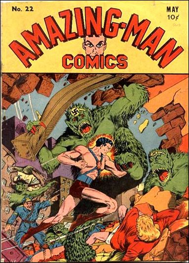 Amazing Man Comics 22-A by Centaur Publications Inc.