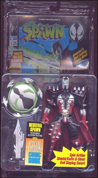 Spawn (Series  1) Medieval Spawn (Black Costume) by Todd Toys