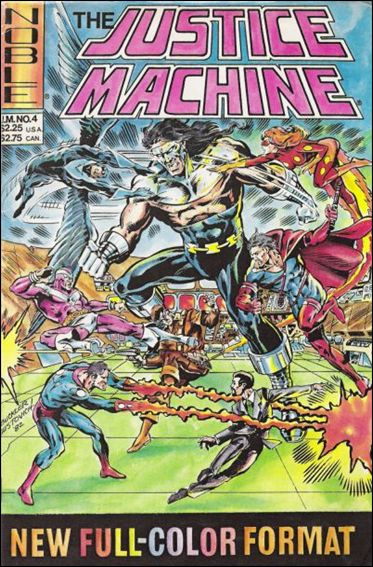 Justice Machine (1981) 4-A by Noble Comics