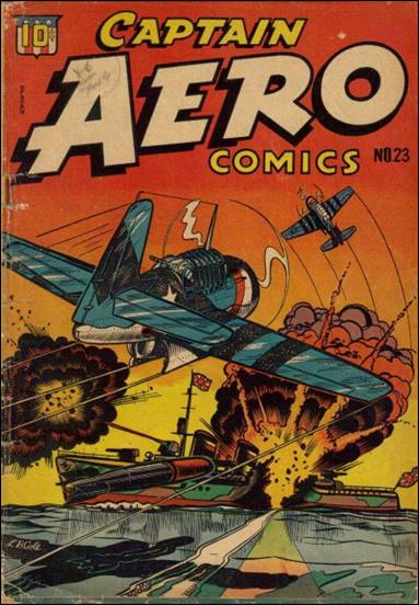Captain Aero Comics 23-A by Continental Magazines