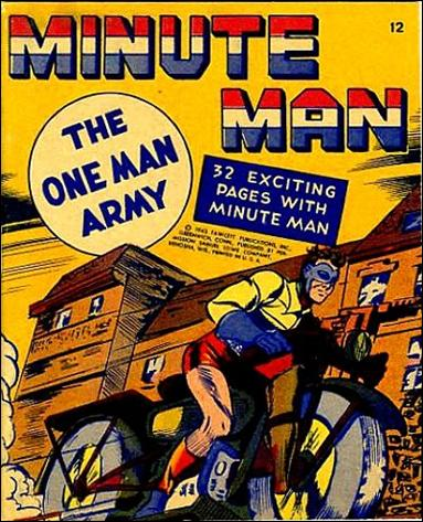 Mighty Midget Comics - Minute Man 12-A by Samuel E Lowe & Co