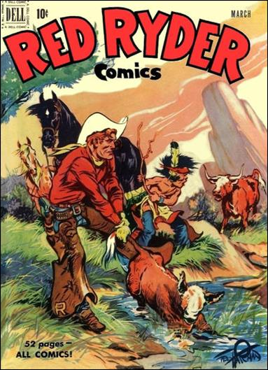 Red Ryder Comics 92-A by Dell
