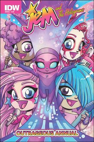 Jem and the Holograms Outrageous Annual 2015-A