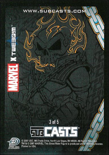 2007 Marvel Masterpieces (Subcasts Gamepiece Subset) 3-A by Upper Deck